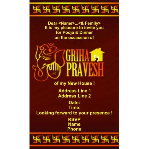 Griha Pravesh Invitations 2