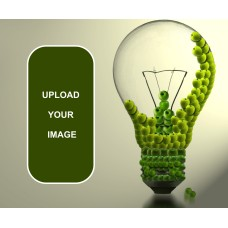 Green Bulb Idea Mouse Pad