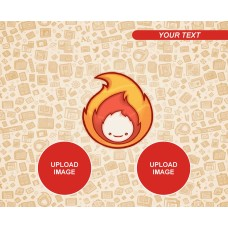 Fire Monkey Mouse Pad