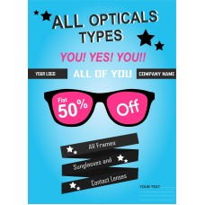 All Opticals Type Poster